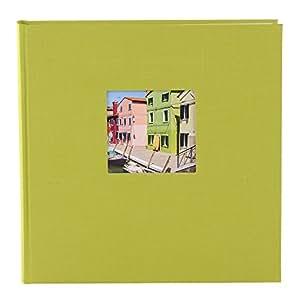 Goldbuch Fotoalbum, Bella Vista, 25x25 cm, 60 Seiten mit Pergamin, Leinen, Grün, 24896