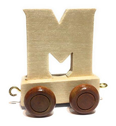 Buchstabenzug | Wunschname zusammenstellen | Holzeisenbahn | EbyReo® Namenszug aus Holz | personalisierbar | auch als Geschenk Set (Buchstabenzug M) (M M Und Personalisiert)