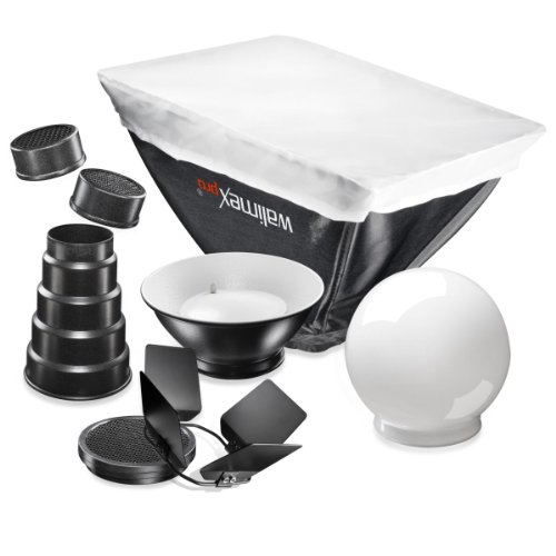 Walimex Pro Blitzvorsätze (7-teilig) für Canon 580EX II (Ii Canon Blitz Tasche 580ex)