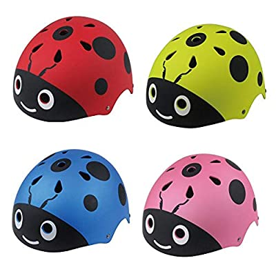 Children's Protective Helmet,Adjustable Kids Cycling/Gear Scooter Beetle Helmet For Street Dance Roller Skating Skateboard Bicycle Balance Car for Girls/Boys from Greencolorful