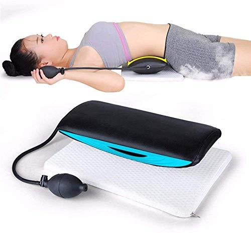 BD.Y Gute Qualität Aufblasbare Lordosenstütze Pad - Lendenwirbelsäule Traktionsgerät Gürtel Rückenpolster für die Behandlung von Rückenschmerzen Wirbelsäule Schmerzlinderung Rückenmassage -
