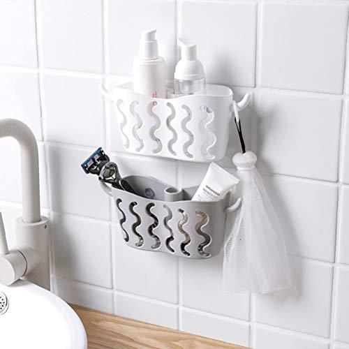 Autoadesivi cucina porta spugna, 4 ganci Caddy Brush sapone liquido lavapiatti lavello rack - acciaio inox: Casa e cucina.
