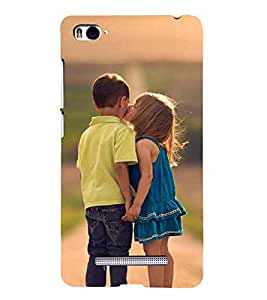 99Sublimation Little Girl Kiss to Boy 3D Hard Polycarbonate Back Case Cover for Xiaomi Mi 4i :: Xiaomi Redmi Mi 4i