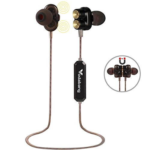 Bluetooth Kopfhörer Vodabang High Definition Dual Dynamic Driver Magnetic Heavy Bass Wireless Ohrhörer Sport in-Ear Sweatproof Ohrhörer mit MIC - Zyklus-sound-lautsprecher