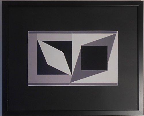 aufgezogen und gerahmt Hommage an Malewitsch Kunstdruck Victor Vasarely–50,8x...