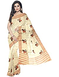 Sakhi Womens Blended Tussar Saree_IMR-0128_Multi-coloured_Free Size