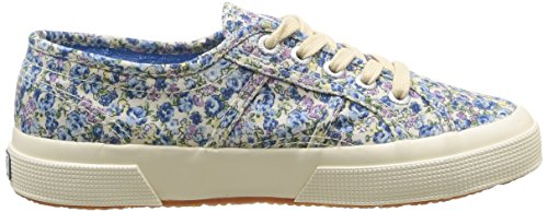 Superga 2750 Cotu Fabric, Baskets mode mixte adulte Bleu (Flowered Blue/Azul)