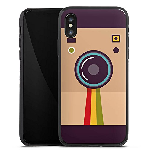 Apple iPhone X Silikon Hülle Case Schutzhülle Kamera Foto Fotograf Silikon Case schwarz