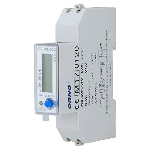 Orno LCD digitaler Wechselstromzähler, 1-Phasen-Anzeige des Stromverbrauchs