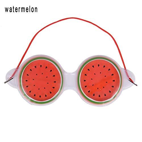 YUELANG Schlaf Gut Komprimieren Gel Eye Fatigue Relief Kühlung Augenpflege Entspannung Augenschutz Maske Ice Kawaii Fruit Gel Augenmaske (Color : Watermelon) - Fruit Gel