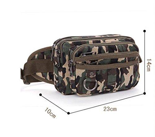 &ZHOU Borsa di tela, Borse di tela, casual tasche di grande capacità, impunture pacchetto portabile portafoglio telefono pacchetto uomini della borsa di marea , khaki green camouflage