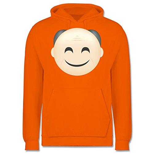 Opa - Opa Emoji - Männer Premium Kapuzenpullover / Hoodie Orange