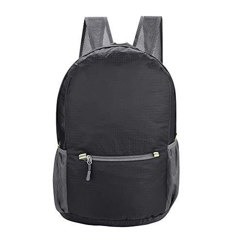 Qiterr borsa da viaggio multifunzionale per alpinismo multifunzionale di moda leggera nera zaino pieghevole da viaggio con doppia spalla