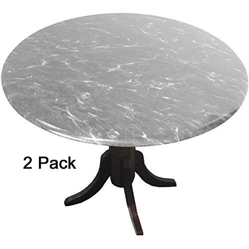 GoMarble MarbleTops Vinyl-Tischdecken (Tischdecken, Tischdecken), Florentiner Marmor, Grau, 2 Stück -