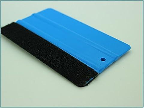 Raclette Squeegee Car Wrap applicateur feutre mou en plastique raclette à bord (Bleu)