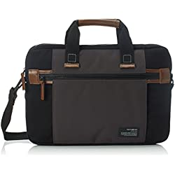 "Samsonite Sideways Laptop Sleeve 15.6"" Bolso Bandolera, 8.9 Litros, Color Negro/Gris"