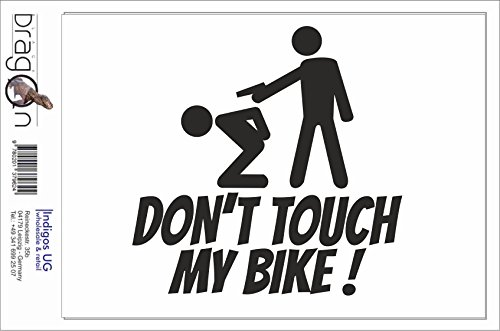 Black Dragon - T-Shirt Herren - JDM / Die cut - Don´t touch my Bike! Weiß