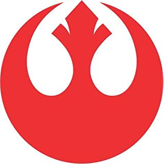 PCSL Star Wars - Windows Sticker/Decal/Wall Art/Bedroom/Living Room/Car - Truck (Red, Rebel Alliance)