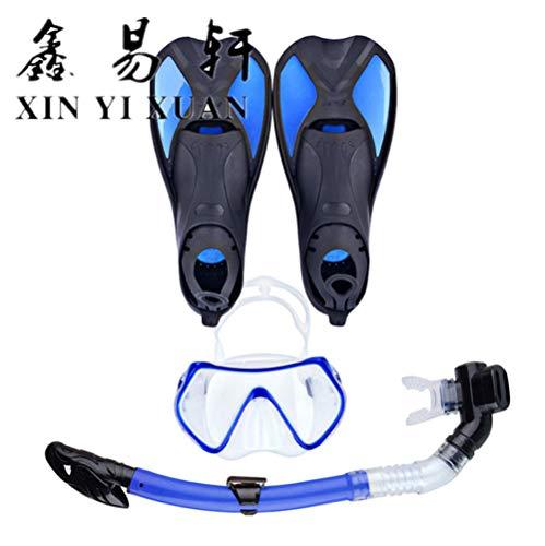 zxcvb Tauchmasken freie Atmung,kein Eindringen von Wasser Schnorchelanzug Schwimmen Schnorcheln DREI Schätze Tauchsport - Blau_L