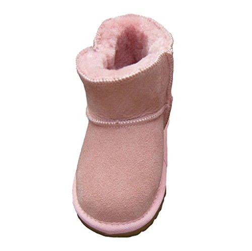 ACMEDE - Bottes de Neige Chaudes Et Souples Pour Enfants Bébé Fille Garçon En Hiver Chaussures Fourrure Snow Boots Rose 1