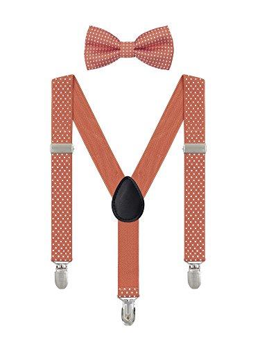 Irypulse bretelle pois da 6 mesi-5 anni bambino ragazzi ragazze 3 clip y forma larghezza 2,5 cm regolabile elastica arancione