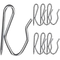 Kinvac Curtain Hooks, Metal Curtain Hooks Drapery Pin Hooks for Window Curtain,Door Curtain and Shower Curtain,100 Pack