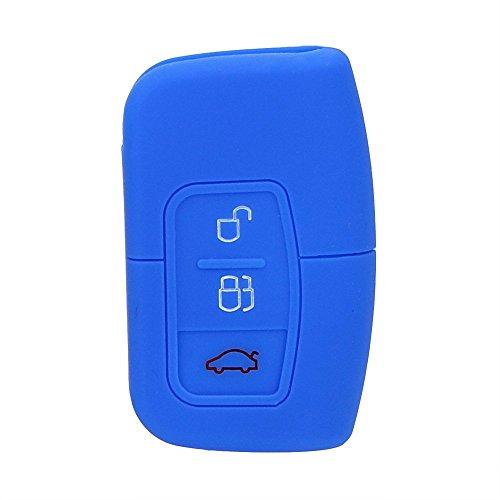 /Étui de Protection Souple kwmobile Accessoire cl/é de Voiture pour Ford Coque pour Clef de Voiture Keyless Go Ford 3-Bouton en Silicone m/étallique dor/é