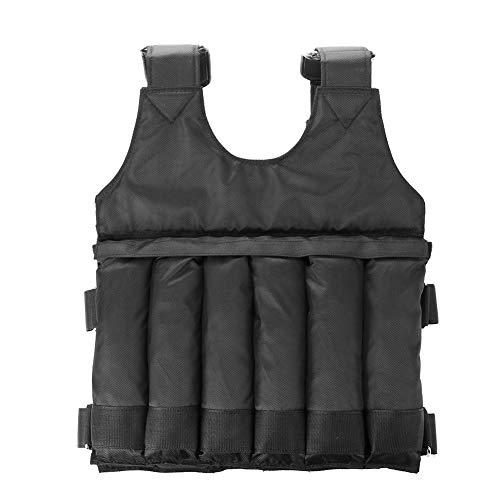 Gewichtsweste 1-50kg Verstellbare Weste Sportswear Fitness-Weste Ausdauertraining Ausrüstung geeignet für Übungen Langstreckenlaufen Sprint (Gewichtete Artikel Sind Nicht Enthalten)