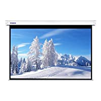 "SNOWMOKEE 120"" 4:3 HD Matte White Electric Projector Screen, Wall Mounted Ceiling Remote Control Motorized Home Theater TV Office Automatic Projection Screen,244 X 183CMS"