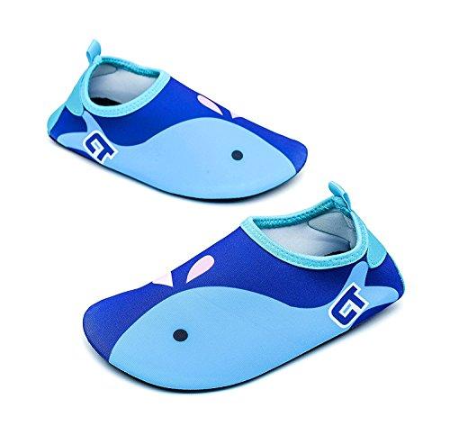Tkiames Jungen Mädchen Aquaschuhe Barfuß Schuhe Schwimmschuhe Badeschuhe Wasserschuhe Surfschuhe Sportschuhe für Kinder