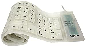 LogiLink Tastatur Flexibel Wasserfest USB + PS/2 weiß