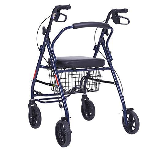 Motorisierte Roller (Qing MEI Tragbarer Einkaufswagen des Alten Laufkatze-vierrädrigen Alten Mannes Einkaufswagen-Rollers, Der Gehendes Motorisiertes Zusatzsystem, Gehendes Hilfsmittel Faltet A++)