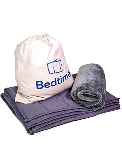 Bedtime Gewichtsdecke - Therapiedecke für Kinder & Erwachsene | Besserer Schlaf, Anti Stress | 4 kg, 135x200 cm, Grau