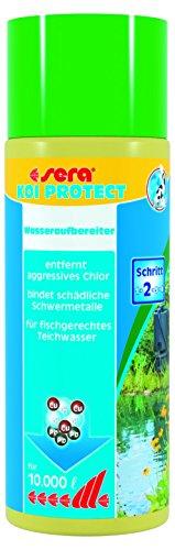 Sera 07214 KOI PROTECT 500 ml für 10.000 Liter Teichwasser - Der optimale Schutz wertvoller Koi und Kaltwasserfische