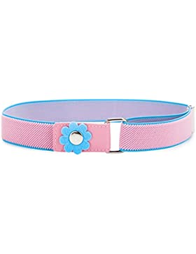 Ladeheid Cinturón Elástico para Niñas 62 cm x 2,5 cm P15K
