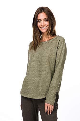 super.natural Bequemer Damen Pullover, Mit Merinowolle, W KNIT SWEATER, Größe: L, Farbe: Beige