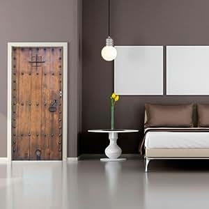 t rtapete mit mittelalter gateway motiv vlies t r poster fototapete wand wandbild foto 100 x. Black Bedroom Furniture Sets. Home Design Ideas