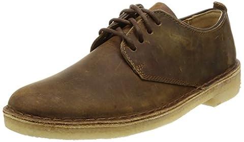 Clarks Originals Desert London, Herren Derby Schnürhalbschuhe, Braun (Beeswax Leather), 44.5 EU (10 Herren