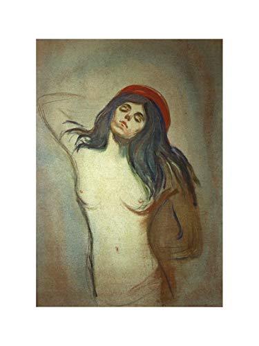 Edvard Munch - Madonna 1894/95 Print 60x80cm -