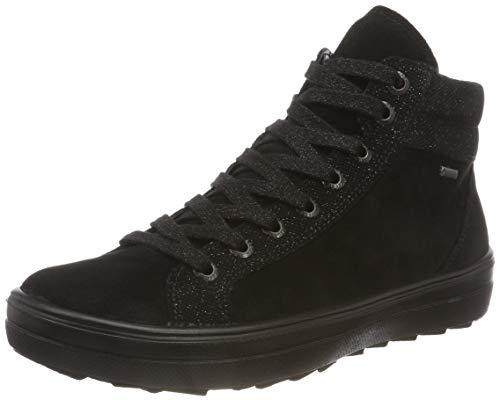 Legero Damen Mira Hohe Sneaker, Schwarz (Schwarz 00), 40 EU (6.5 UK) Hohe Reißverschluss