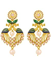Voylla Traditional Earring With Gold Plating For Women