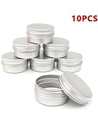 Del clavo 10pcs Bálsamo técnica de los cosméticos Crema Maquillaje de labios Pot Tarro de la lata del envase del caso
