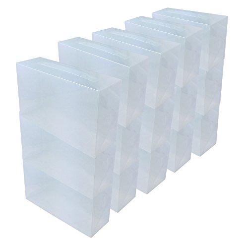 durchsichtige schuhkartons DynaSun 1615315x PP368T Aufbewahrungsbox Schuhe, Herren/Damen, platzsparend, transparent, 15Arbeitsplätze
