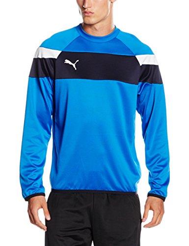 Royal Blau Lange Ärmel Pullover (PUMA Herren Sweatshirt Spirit II Training Sweat royal-White, L)