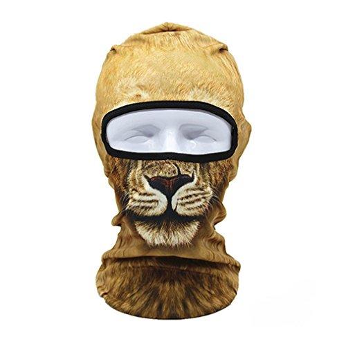 3D Animal Al aire libre Máscaras de esquí Bicicleta Ciclismo Gorros Invierno Windstopper Cara Sombreros (D)