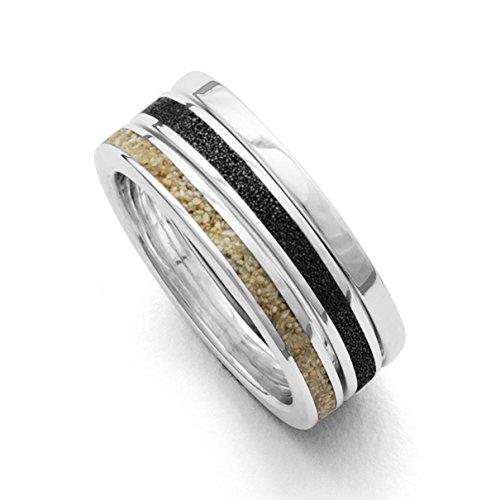 Dreier-Ring Marina Strandsand, Lavasand, Sterling-Silber 925 (54 (17.2))