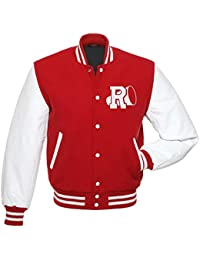 Adults Red & White Rydale High Grease American College Baseball Varsity Jacket