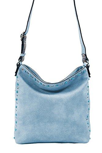 emily and noah Emily & Noah - Elsa 60476, Handtasche Umhängetasche mit Nieten und türkisfarbenen Steinen Damen Sky