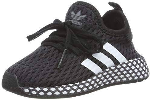 adidas Unisex-Kinder Deerupt Runner Fitnessschuhe, Schwarz (Negro 000), 23.5 EU (Junge Jordan Baby Schuhe)