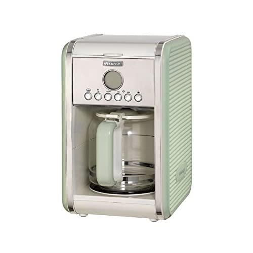 41CxNVuh05L. SS500  - Ariete 1342/04 Retro Style Filter Coffee Machine, 24 Hour Programmable Timer with Pause and Serve Button and Washable Filter, Green